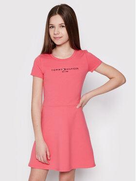 Tommy Hilfiger Tommy Hilfiger Kleid für den Alltag Essential Skater KG0KG05789 D Rosa Regular Fit