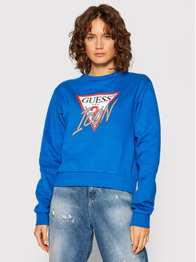 Guess Guess Džemperis Icon W1YQ0C K68I0 Tamsiai mėlyna Regular Fit
