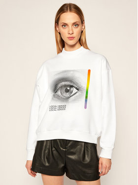 Local Heroes Local Heroes Džemperis Curious Eye Sweatshirt AW2021S0017 Balta Regular Fit