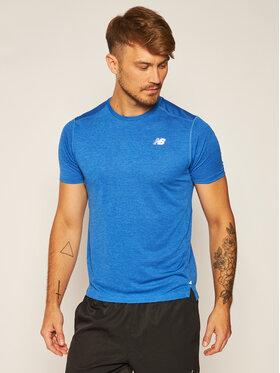 New Balance Funkčné tričko Impact Run Short MT01234 Tmavomodrá Athletic Fit