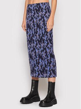 Desigual Desigual Midi suknja Shirley 21WWFF03 Tamnoplava Regular Fit