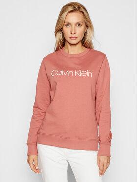 Calvin Klein Calvin Klein Felpa Core Logo Ls K20K202157 Rosa Regular Fit