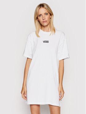 Vans Vans Každodenní šaty Wm Center Vee VN0A4RU2 Bílá Regular Fit