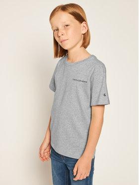 Calvin Klein Jeans Calvin Klein Jeans Póló Chest Logo IB0IB00456 Szürke Regular Fit