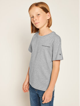 Calvin Klein Jeans Calvin Klein Jeans T-Shirt Chest Logo IB0IB00456 Γκρι Regular Fit
