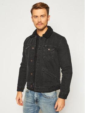 Wrangler Wrangler Giacca di jeans Sherpa W4MSB5236 Nero Regular Fit