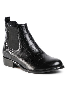 Gino Rossi Gino Rossi Členková obuv s elastickým prvkom 4768-04 Čierna