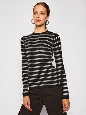 Calvin Klein Jeans Calvin Klein Jeans Pulover Striped Ribbed J20J214134 Negru Slim Fit