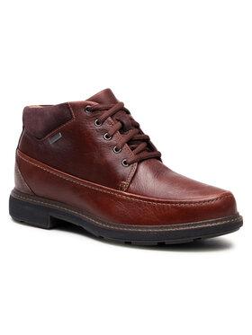 Clarks Clarks Šnurovacia obuv Un TreadOnGtx2 GORE-TEX 261551457 Hnedá