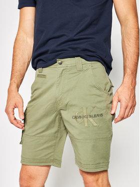 Calvin Klein Jeans Calvin Klein Jeans Kratke hlače J30J314905 Zelena Slim Leg