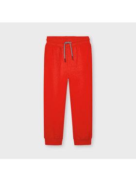 Mayoral Mayoral Spodnie dresowe 742 Czerwony Regular Fit