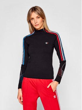 adidas adidas Bluzka adicolor Tricolor GN2859 Czarny Regular Fit