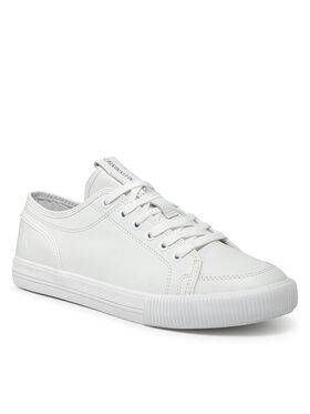 Calvin Klein Jeans Calvin Klein Jeans Sneakersy Ess Vulc Laceup Sneaker L YM0YM00277 Bílá