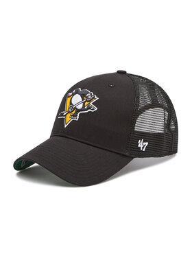 47 Brand 47 Brand Шапка с козирка Pittsburgh Penguins Cap H-BRANS15CTP-BKB Черен