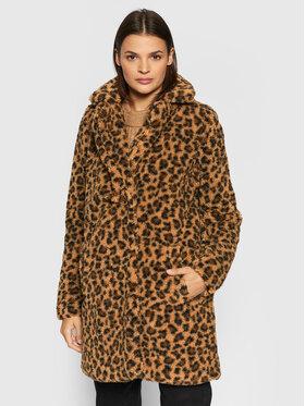 Noisy May Noisy May Zimný kabát Gabi 27010169 Hnedá Relaxed Fit
