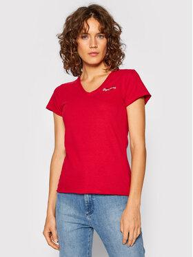 Pepe Jeans Pepe Jeans T-Shirt Bleu PL504820 Červená Slim Fit