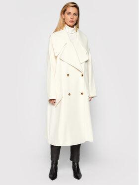 TWINSET TWINSET Płaszcz zimowy 212AT2062 Biały Regular Fit