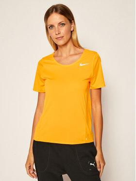 Nike Nike Funkčné tričko City Sleek CJ9444 Oranžová Standard Fit