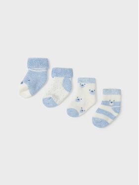 Mayoral Mayoral Set di 4 paia di calzini lunghi da bambini 9421 Blu