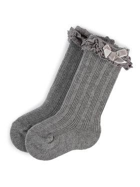 Mayoral Mayoral Vysoké detské ponožky 10636 Sivá