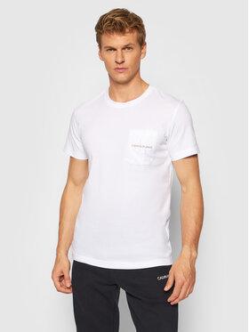 Calvin Klein Jeans Calvin Klein Jeans Тишърт J30J319098 Бял Regular Fit