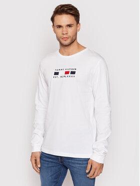Tommy Hilfiger Tommy Hilfiger Тениска с дълъг ръкав Four Flags MW0MW20163 Бял Regular Fit