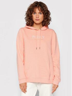 Roxy Roxy Mikina Day Breaks Brushed ERJFT04483 Ružová Regular Fit