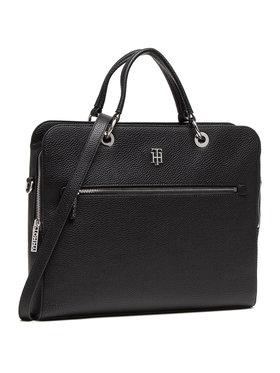 TOMMY HILFIGER TOMMY HILFIGER Чанта за лаптоп Th Essence Computer Bag AW0AW08852 Черен