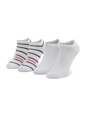 Tommy Hilfiger Tommy Hilfiger Sada 2 párů pánských nízkých ponožek 100002211 Bílá