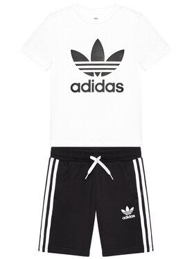 adidas adidas Komplektas: marškinėliai ir sportiniai šortai Set GP0194 Juoda Regular Fit