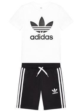 adidas adidas Sada tričko a sportovní šortky Set GP0194 Černá Regular Fit