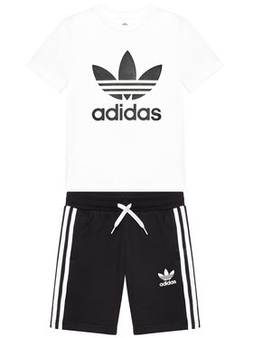 adidas adidas Set tricou și pantaloni scurți sport Set GP0194 Negru Regular Fit