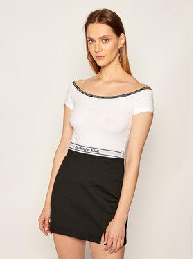 Calvin Klein Jeans Calvin Klein Jeans T-Shirt J20J214229 Biały Slim Fit