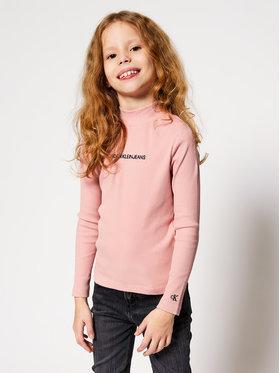 Calvin Klein Jeans Calvin Klein Jeans Blúz Rib Ls Mock Neck IG0IG00673 Rózsaszín Regular Fit