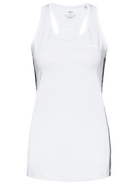 adidas adidas Marškinėliai Design 2 Move 3-Stripes DU2057 Balta Slim Fit