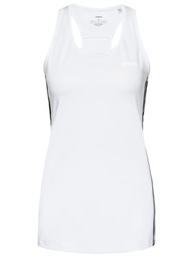 adidas adidas Топ Design 2 Move 3-Stripes DU2057 Бял Slim Fit