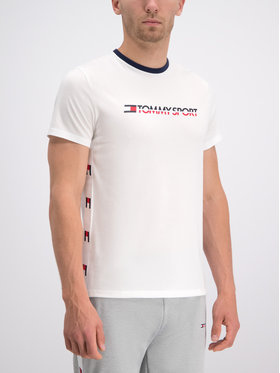 Tommy Sport Tommy Sport Тишърт S20S200108 Бял Regular Fit