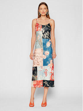 Desigual Desigual Sukienka letnia Matsue 21WWVK63 Kolorowy Slim Fit