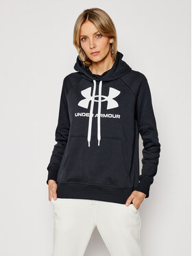 Under Armour Under Armour Pulóver Ua Rival Fleece Logo 1356318 Fekete Loose Fit