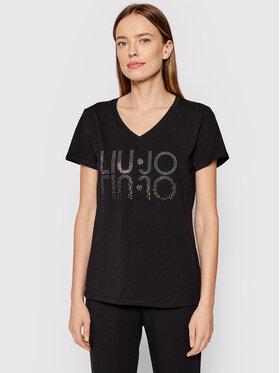 Liu Jo Sport Liu Jo Sport T-shirt TF1217 J9944 Crna Regular Fit