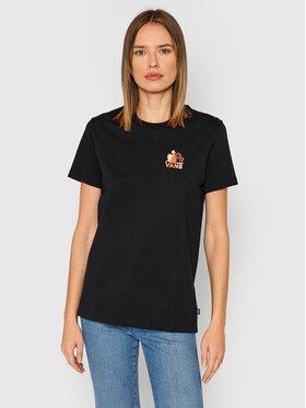 Vans Vans T-Shirt Cultivate Care BF Tee VN0A5LK5BLK1 Czarny Regular Fit