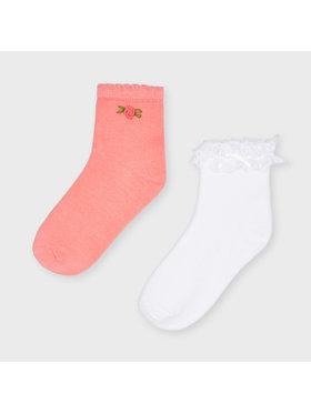 Mayoral Mayoral Sada 2 párů dětských nízkých ponožek 10056 Růžová