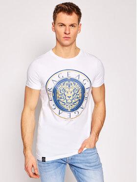 Rage Age Rage Age T-Shirt Gold Lion Biały Slim Fit