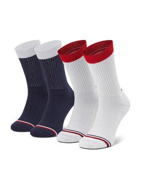 Tommy Hilfiger Tommy Hilfiger Sada 2 párů dětských vysokých ponožek 100002309 Bílá