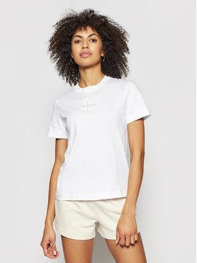Calvin Klein Jeans Calvin Klein Jeans Marškinėliai J20J215497 Balta Regular Fit