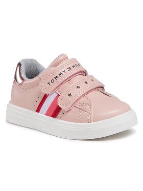 Tommy Hilfiger Tommy Hilfiger Sneakersy Low Cut Velcro Sneaker T1A4-31012-0621 M Różowy
