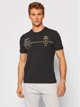 Aeronautica Militare Aeronautica Militare T-Shirt 212TS1892J469 Czarny Regular Fit