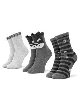 Mayoral Mayoral Súprava 3 párov vysokých detských ponožiek 10833 Sivá