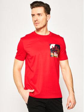Boss Boss Marškinėliai Tames 12 50426066 Raudona Regular Fit