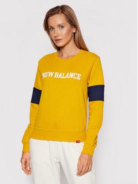 New Balance New Balance Суитшърт Classic Crew WT13807 Жълт Relaxed Fit